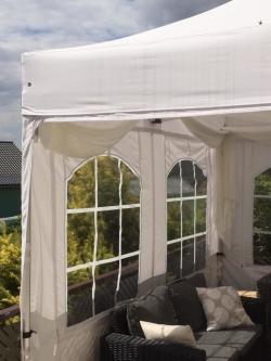 Faltpavillon weiß mit Fenster